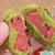 ジオフロント直送。加持農園「西瓜饅頭」。西瓜あん♪