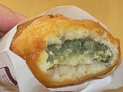 初めて揚げたてを食べた。もち処木乃幡の餅ドーナツ「凍天」。