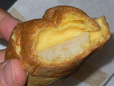 クレームデラクレームの京野菜シュー 白味噌の中身